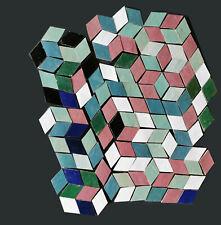 basteln dekorieren mit Zelliges 0,66m² - 3D bunter mix Fliesen Spritzschutz