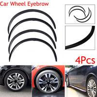 "4pcs 28.7"" Car Wheel Eyebrow Arch Trim Lips Fender Flares Protector Carbon Fiber"