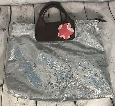 Expressions NYC Handbag Purse Big Silver Sequins New With Tags Party Festive