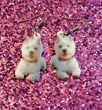 West Highland White Terrier Westie Dog lite weight earrings jewelry Free Ship