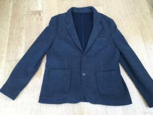ANGELO LITRICO  Charcoal Grey Knit Blazer   Size UK 24 EU 56