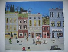 Mike Falco Litho Print Small Town U.S.A. M. Falco Signed Numbered 967/1000