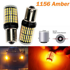 Amber Brake Light 1156 BA15S P21W 7506 3497 1141 144 LED Bulb A1 BM MI AW LAX
