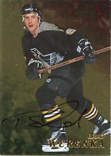 98-99 BE A PLAYER BAP SIGNATURE AUTOGRAPH AUTO GOLD BRAD WERENKA PENGUINS *35294