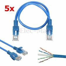 5x 20cm Short CAT 5 RJ45 Ethernet Internet Network Patch Lan Cable Cord Lead