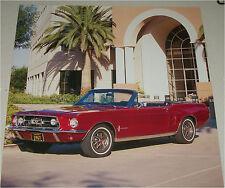 1967 Ford Mustang Convertible car print (red, no top)