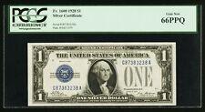 U.S. 1928  $1 SILVER CERTIFICATE BANKNOTE  FR-1600 CERTIFIED PCGS GEM NEW 66-PPQ