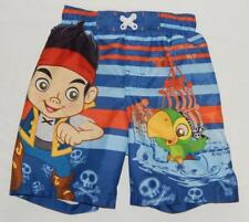 CAPTAIN JAKE Disney Kids Boys Blue Graphic Swim Trunks Shorts Size Medium (4/5)