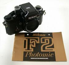 Nikon f2 Photomic dp-1 Body chassis 1975 BLACK Prof. analogico Mechanic iconic/19