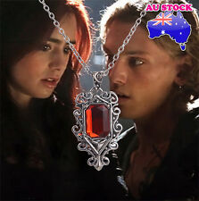 The Mortal Instruments City of Bones Isabelle Ruby Stone Vintage Pendant Necklac