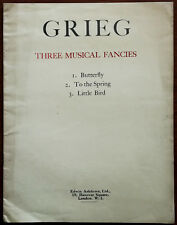 More details for grieg three musical fancies. butterfly, to the spring & little bird – mid 1900's