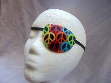 """Adult unisex handmade eye patch, """"Peace Symbol""""  -  one size fits all"""