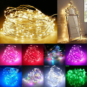 1M-10M LED String Fairy Lights Battery Operated Copper Wire Chirtmas Party Decor