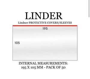 Lindner PROTECTIVE COVERS/SLEEVES Banknote plastic sleeve  (Germany) 195mm x 105