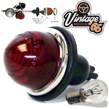 Classic Car Hotrod Kit Bullet Style Lucas Rear Fog Stop & Tail Light Lamp 12v