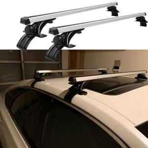 "48"" Universal Car Top Cross Bar Crossbar Roof Rack Aluminum For Cargo Luggage"