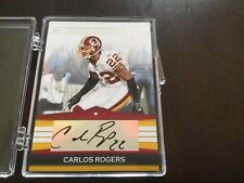 Carlos Rogers 2008 Donruss Silver Signatures SS-CR
