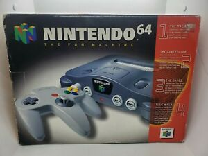 Nintendo 64 Video Game Console - Tested, Works. Complete In Box! CIB N64 N 64