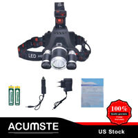 12000Lm T6 LED Headlamp Headlight 18650 Light Torch w/2 Charger Rechargeable
