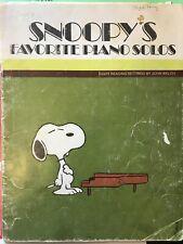 Snoopys Favorite Piano Solos Song Book Vintage