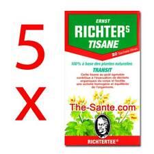 Thé RICHTERS Tisane TRANSIT lot de 5 boites