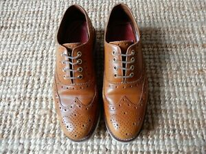 GRENSON Emily women's leather brogue shoes amber (brown) uk5