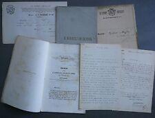 Nadault de Buffon. Lettres datées Chalon-sur-Saône.+ Biographie Sauveteur. 1860.