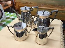 Antique Walker & Hall W&H Sheffield Silver Plated Teapot Coffee Pot Set 4pcs