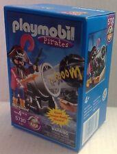 Playmobil 5730 Pirate Captain Blackbeard w/Giant Shooting Cannon - 17 pcs. - NEW