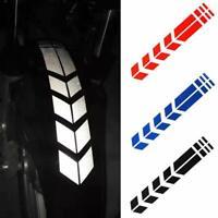 Waterproof Motorcycle Car Reflective Arrow Striped Stickers Wheel Fender Decals