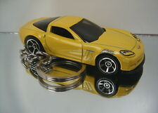 2011 Corvette Key Chain Ring Yellow Grand Sport Diecast Fob