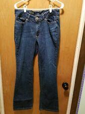Lee Modern Series Womens Curvy Fit Bootcut Jeans Size 14 Stretch Denim dark wash