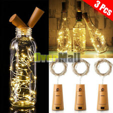 3Pcs 2M 20 LED Cork Shaped LED Night Starry Light Wine Bottle Lamp Party Decor