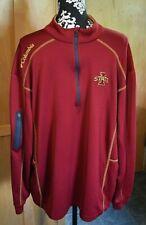 Iowa State University Cyclones Columbia Golf Crimson Embroidered 1/4 Zip Men 2Xl