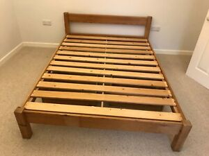 Pine Wood Double Bed Frame