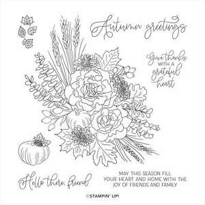 Autumn Greetings | Retired Cling Mount Stamp Set | Stampin' Up!