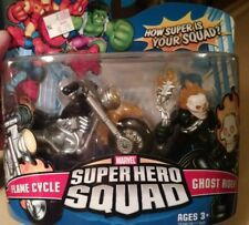 New Marvel Super Hero Squad Ghost Rider and Flame Cycle Hasbro Rare 2007