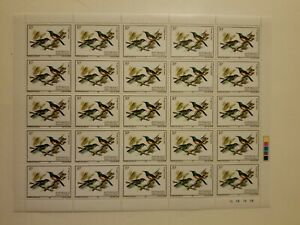 Regal Sunbird Sheet of 25 MNH OG stamps
