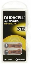 Duracell Hearing Aid Batteries Size 312 pack 60 batteries, New, Free Shipping