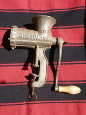 Husqvarna  No.10 Meat Grinder hand crank made in Sweden