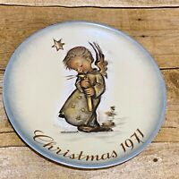 1971 Berta Hummel Christmas Plate Limited First Edition Made in West Germany
