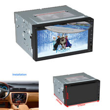 "6.95"" 2 DIN HD Car In-dash Stereo DVD CD Video Player GPS Navigator Mirror Link"