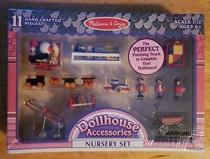Melissa /& Doug Dollhouse Accessories Nursery Set NRFB RARE