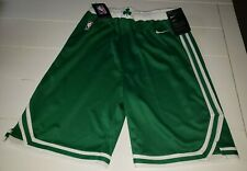 NIKE DRI-FIT NBA BOSTON CELTICS SHORTS YOUTH BOY'S SIZE LARGE GREEN W/WHITE LOGO