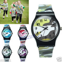 Girls Boys Military Camouflage Children Sport Watch Quartz Analog Wristwatch AU