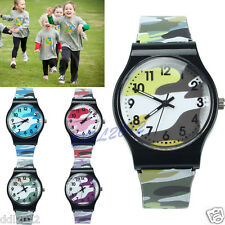 Girls Boys Military Camouflage Children Sport Watch Quartz Analog Wristwatch AU