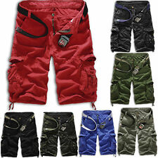 Men's Military Combat Army Cargo Shorts Pants Work Camo Casual Pockets Trousers