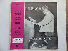 BACH Toccata adagio fugue ALBERT SCHWEITZER A01109L FRANCE