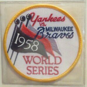 Willabee & Ward NEW YORK YANKEES BRAVES 1958 WORLD SERIES PATCH