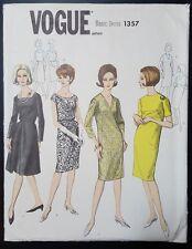 VTG 1960s VOGUE BASIC DRESS PATTERN 1357 SZ 14 UNCUT